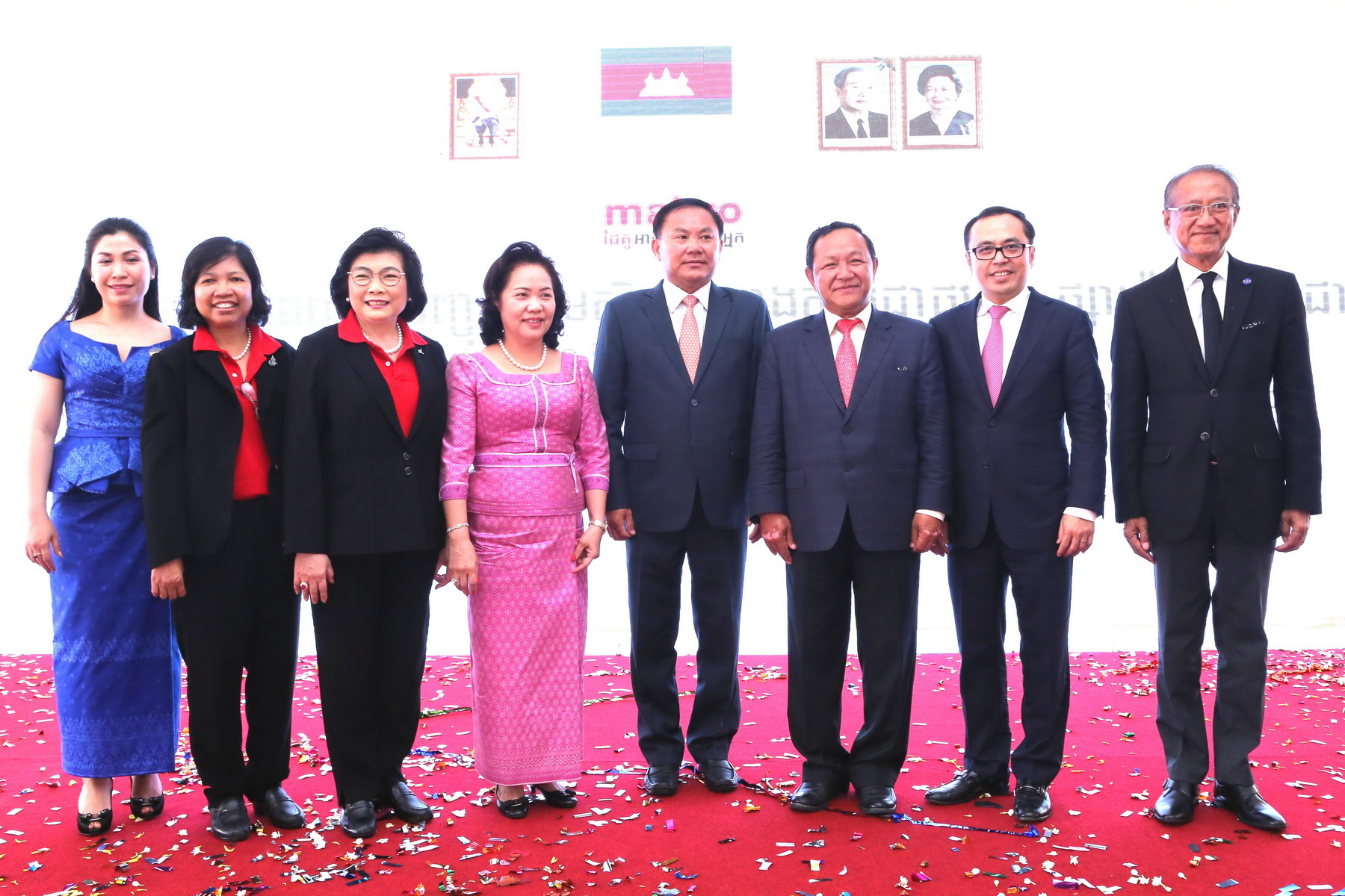 THAILAND – First Makro Krong Pealy Foundation Stone Laying Ceremony In Phnom Penh, Cambodia
