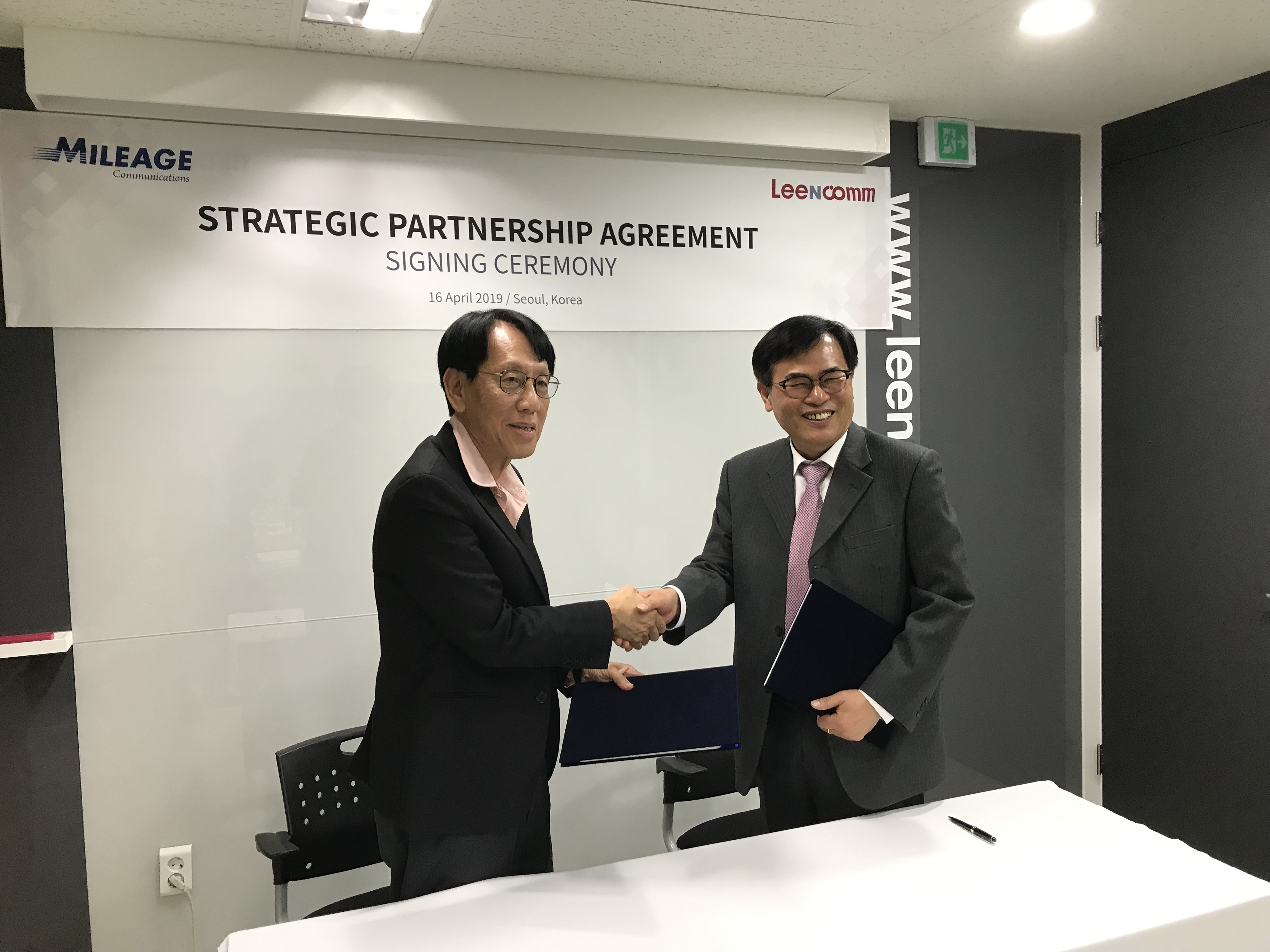 Mileage Communications signed strategic partnership with LeeNcomm in Korea