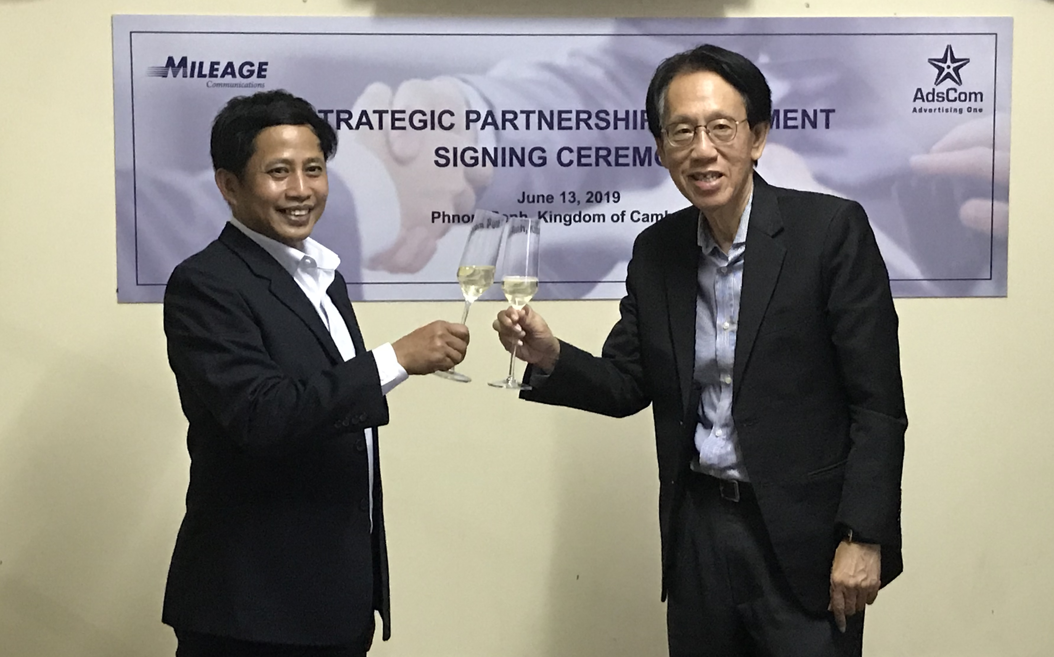 Mileage Communications Group Signs Strategic Partnership Agreement With AdsCom Of Cambodia