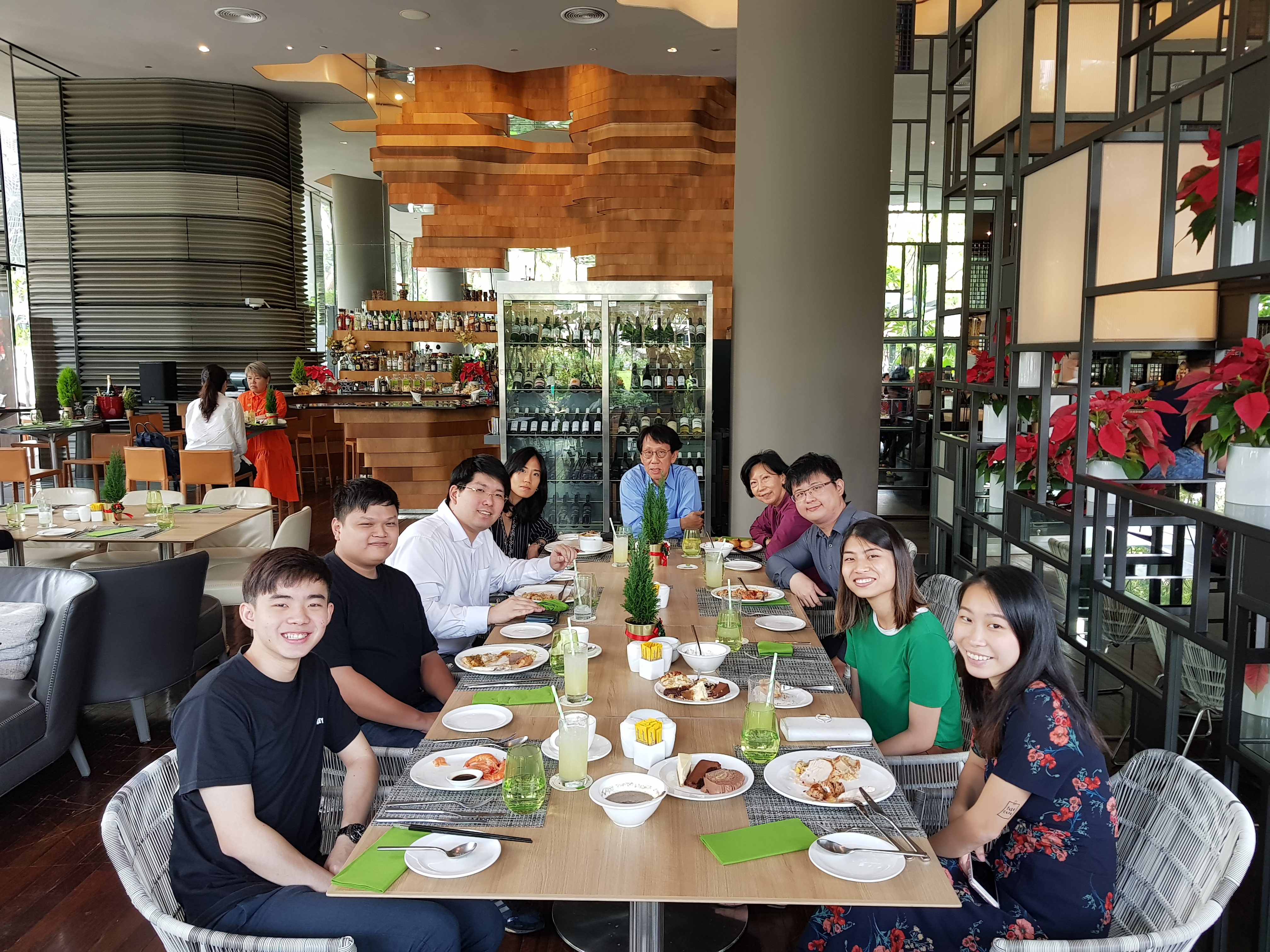 Mileage Communications Singapore Team Gathers For Christmas Lunch